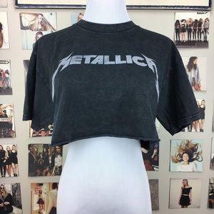 a332a70d7847b Brandy Melville Tops - Brandy melville metallica cropped samantha shirt
